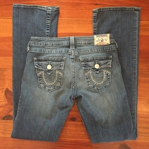 True Religion Hi-Rise Boot Jeans Sz 28 EUC